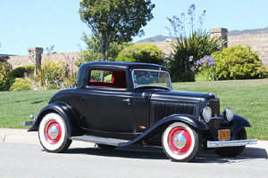 Click to View Roy Brizio Street Rods Completed Cars - John Mumford 1932 Ford 3 Window - Woodside CA
