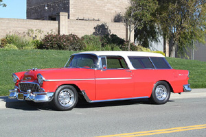 Click to View Roy Brizio Street Rods Completed Cars - Ted Stevens - 1955 Chevrolet Nomad - Carmel CA