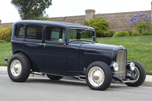 Click to View Roy Brizio Street Rods Completed Cars - Scott Hawley - 1932 Ford 4-door sedan - Burlingame CA