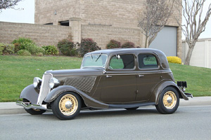 Click to View Roy Brizio Street Rods Completed Cars - John Mumford, Woodside CA, 1933 Ford 4 Door Vicky